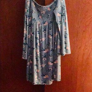 Xhilaration Floral Bell Sleeve Mini Dress! S